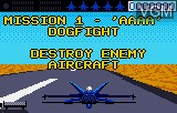 Menu screen of the game Blue Lightning Demo on Atari Lynx