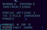 Menu screen of the game Bubble Trouble on Atari Lynx