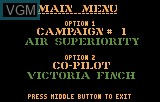 Menu screen of the game Desert Strike - Return to the Gulf on Atari Lynx