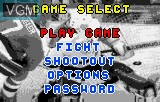 Menu screen of the game Hockey on Atari Lynx