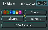 Menu screen of the game Ishido - The Way of the Stones on Atari Lynx