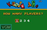 Menu screen of the game Krazy Ace Minature Golf on Atari Lynx