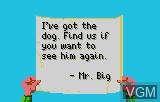 Menu screen of the game Scrapyard Dog on Atari Lynx