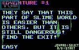 Menu screen of the game Todd's Adventure in Slime World on Atari Lynx