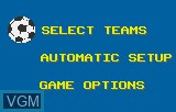 Menu screen of the game World Class Soccer on Atari Lynx