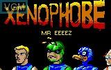 Menu screen of the game Xenophobe on Atari Lynx