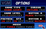 Menu screen of the game Loopz on Atari Lynx
