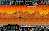 In-game screen of the game Battle Wheels on Atari Lynx