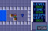 In-game screen of the game Chip's Challenge on Atari Lynx