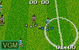 In-game screen of the game European Soccer Challenge on Atari Lynx
