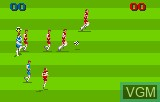 In-game screen of the game World Class Soccer on Atari Lynx