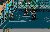 In-game screen of the game Basketbrawl on Atari Lynx