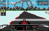 In-game screen of the game Checkered Flag on Atari Lynx