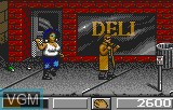 In-game screen of the game Dirty Larry - Renegade Cop on Atari Lynx