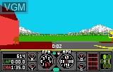 In-game screen of the game Hard Drivin' on Atari Lynx