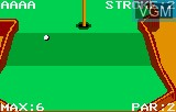 In-game screen of the game Krazy Ace Minature Golf on Atari Lynx