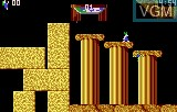 In-game screen of the game Lemmings on Atari Lynx