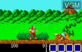 In-game screen of the game Rygar - Legendary Warrior on Atari Lynx
