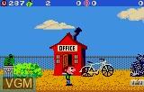 In-game screen of the game Scrapyard Dog on Atari Lynx