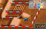 In-game screen of the game Super Off-Road on Atari Lynx