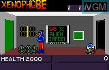 In-game screen of the game Xenophobe on Atari Lynx