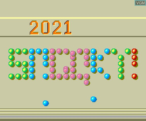 Title screen of the game 2021 Snooky! on MSX Turbo-R