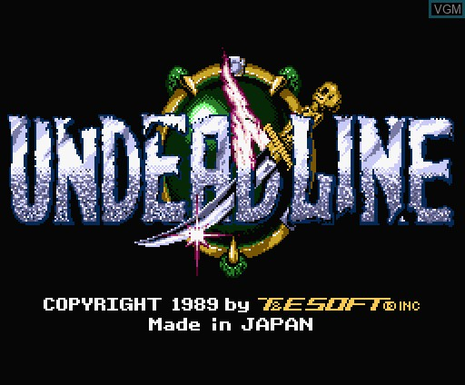 Title screen of the game Undead Line on MSX Turbo-R