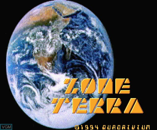 Title screen of the game Zone Terra on MSX Turbo-R