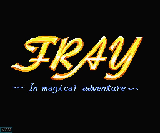 Title screen of the game Fray in Magical Adventure on MSX Turbo-R