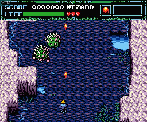 In-game screen of the game Undead Line on MSX Turbo-R