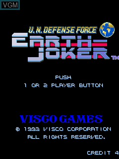 Title screen of the game U.N. Defense Force - Earth Joker on MAME