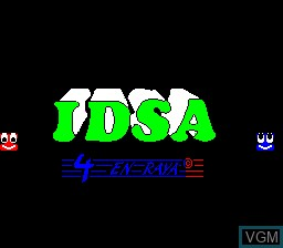 Title screen of the game 4 En Raya on MAME