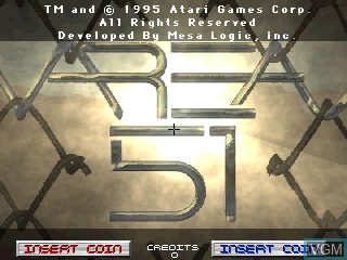Title screen of the game Area 51 on MAME