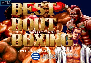 Title screen of the game Best Bout Boxing on MAME