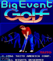 Title screen of the game Big Event Golf on MAME