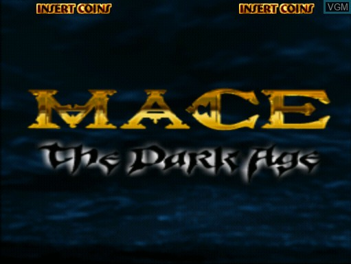 Title screen of the game Mace - The Dark Age on MAME