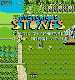 Title screen of the game Mysterious Stones - Dr. Kick in Adventure on MAME
