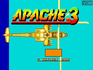 Title screen of the game Apache 3 on MAME