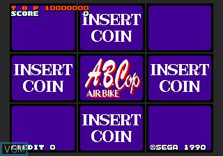 Title screen of the game A.B. Cop on MAME