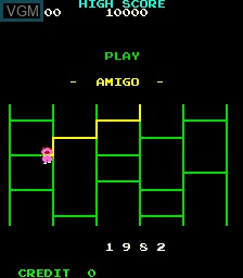 Title screen of the game Amigo on MAME