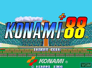 Title screen of the game Konami '88 on MAME