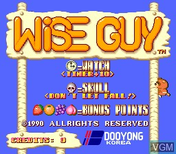 Title screen of the game Wise Guy on MAME
