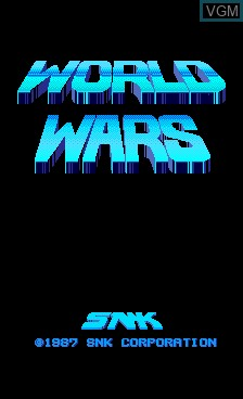 Title screen of the game World Wars on MAME