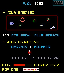 Title screen of the game A. D. 2083 on MAME