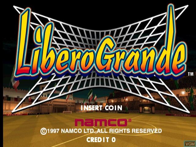 Title screen of the game Libero Grande on MAME