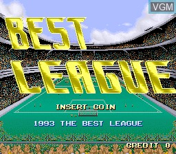 Title screen of the game Best League on MAME