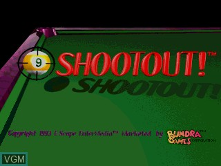 Title screen of the game 9-Ball Shootout! on MAME