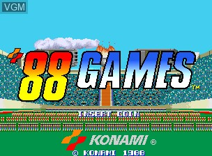 Title screen of the game '88 Games on MAME
