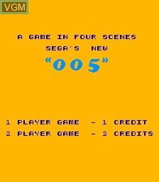 Title screen of the game 005 on MAME