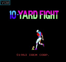 Title screen of the game 10 Yard Fight on MAME